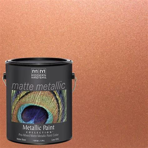 wandfarbe metallic kupfer modern masters 1 gal copper metallic interior paint