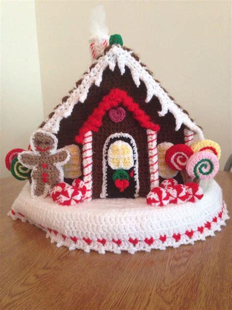 free crochet pattern gingerbread house my crocheted christmas gingerbread house christmas diy