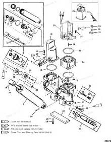 diagram of 225 3 0l carb mercury outboard 0d280813 thru 0g760299 power trim components diagram
