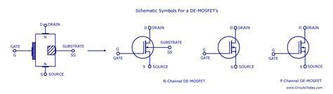 mosfet diagram nmos transistor circuit diagram circuit and schematics