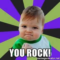 Thanks Baby Meme - you rock victory baby meme meme generator
