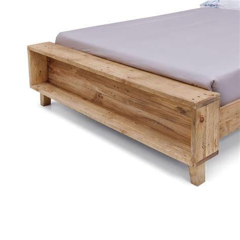 portland rustic recycled timber bed frame buy