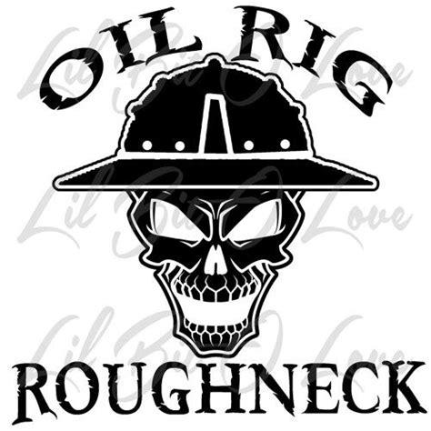 trash boat hat oil rig roughneck skull in hard hat vinyl decal sticker