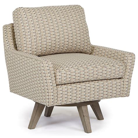 best swivel chair best home furnishings chairs swivel barrel seymour mid century modern chair with swivel base