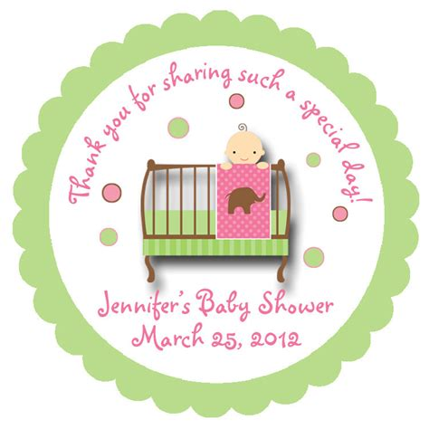 Personalized Stickers For Baby Shower by Baby Shower Sticker Baby Personalized Sticker