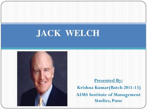 Welch Management Institute Executive Mba by Ppt On Welch
