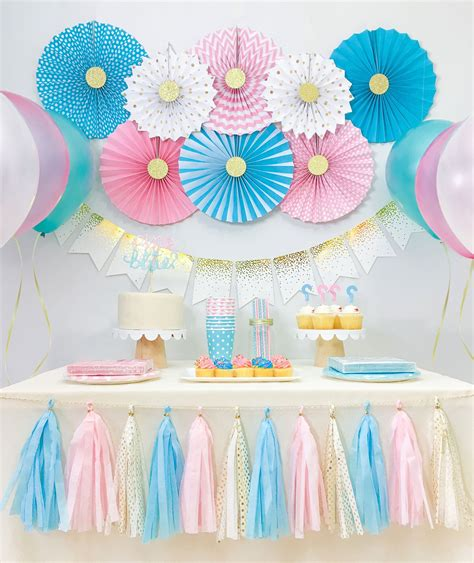 Baby Shower Reveal Ideas by Gender Reveal Baby Shower Decorations Boy And