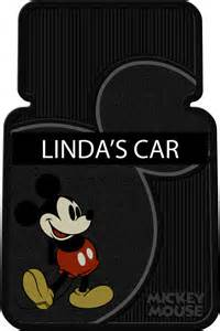 vintage mickey mouse personalized 2 pc vinyl car floor mats