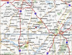 road map of tennessee and tn golf trail the trace at tims ford map