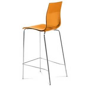 Gel bar stool transparent orange bar stools
