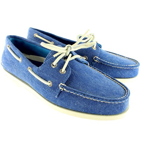 mens sperry top sider boat shoe lace up canvas deck shoes