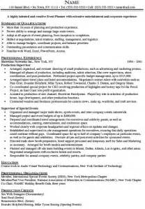 Event Consultant Sle Resume by Event Coordinator Resume Objective