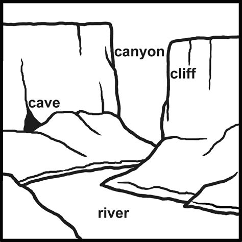 clip art landforms island lake b w abcteach
