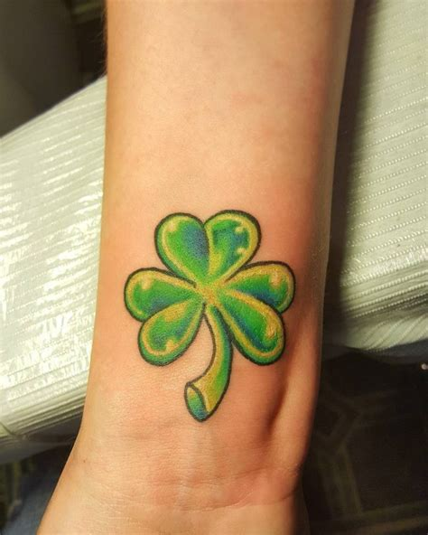 clover tattoo design 75 colorful shamrock designs traditional symbol