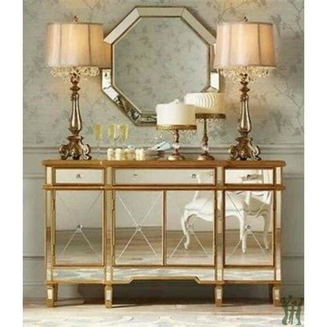 mirror console mirrored console table with 3 drawers and 4 doors ebay