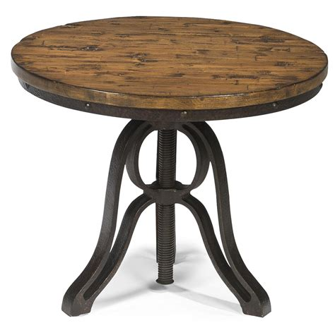 adjustable height end table industrial style end table with adjustable height by