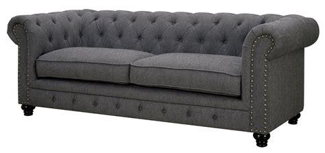 furniture of america sofa stanford gray fabric sofa from furniture of america