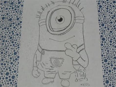imagenes en blanco y negro sencillas como dibujar un minion a blanco y negro frik art youtube