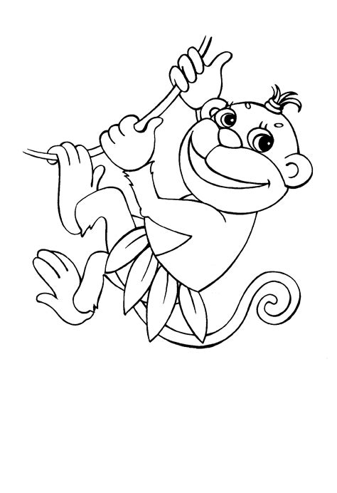 girl monkey coloring page free printable monkey coloring pages for kids