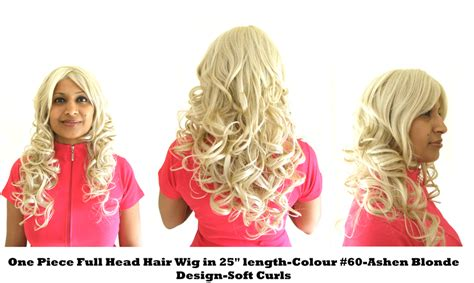 ashen color one hair wig in 25 quot length colour 60