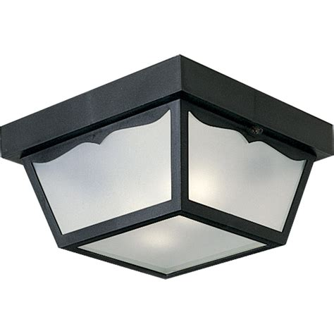 Exterior Ceiling Light Fixtures Progress Lighting P5745 31 Outdoor Flush Mount Ceiling Fixture