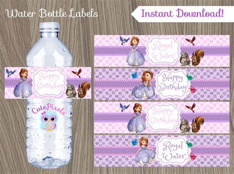sofia the water bottle label princess sofia water