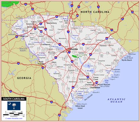 south carolina map south carolina images
