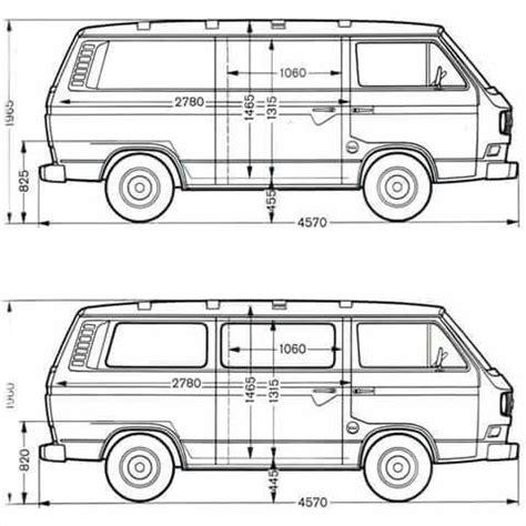 volkswagen caravelle dimensions measurements vw caravelle kombi t3 vw