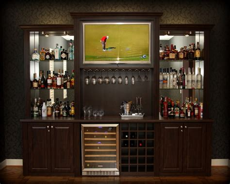 closet bar billiard room refreshment center traditional home bar