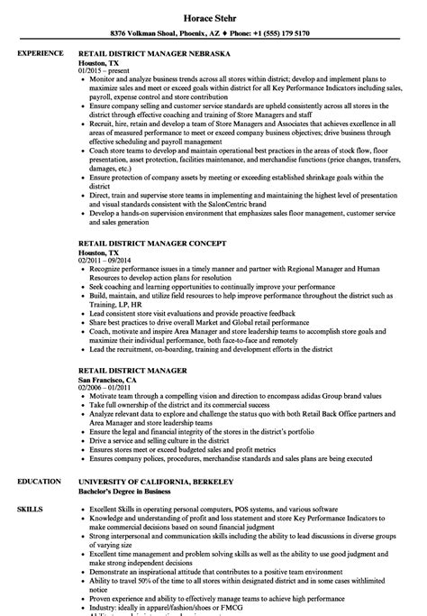 retail district manager resume sle district manager retail sle resume teaching cover
