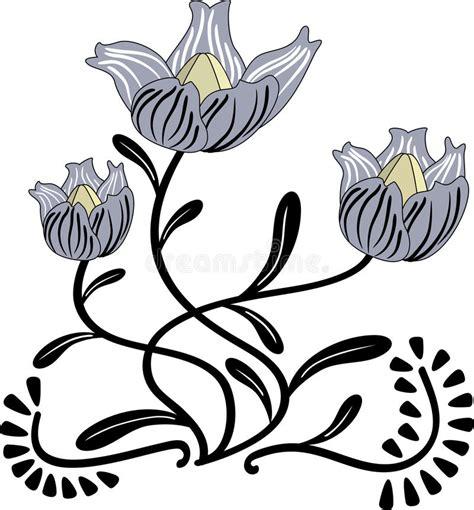 fiore stilizzato fiore stilizzato illustrazione vettoriale illustrazione