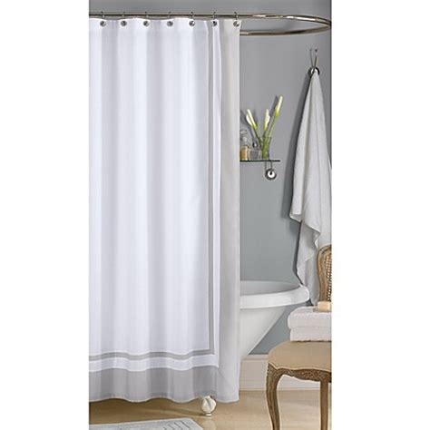 hotel style shower curtain wamsutta 174 hotel shower curtain in grey bed bath beyond
