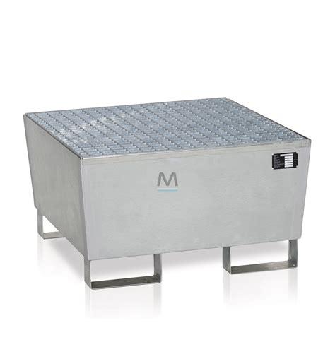 vasca di contenimento vasca di contenimento per 1 fusto in acciaio zincato