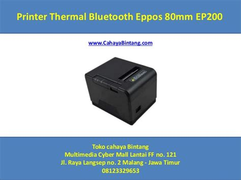 Printer Bluetooth Eppos printer thermal bluetooth eppos 80mm ep200