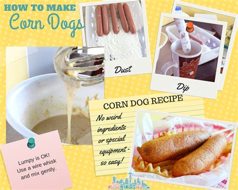 how to make corn dogs corn recipe memories on a stick baby to