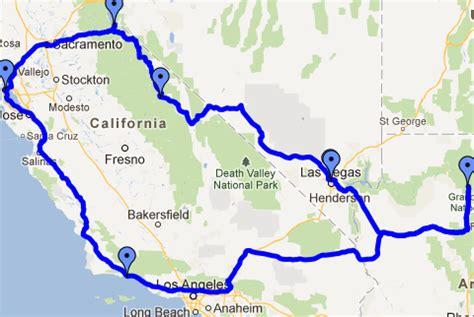 road map of usa west coast west coast usa road trip map my