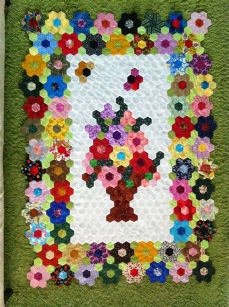 Hexagon Patchwork Patterns - pin by pam ewing on hexagons