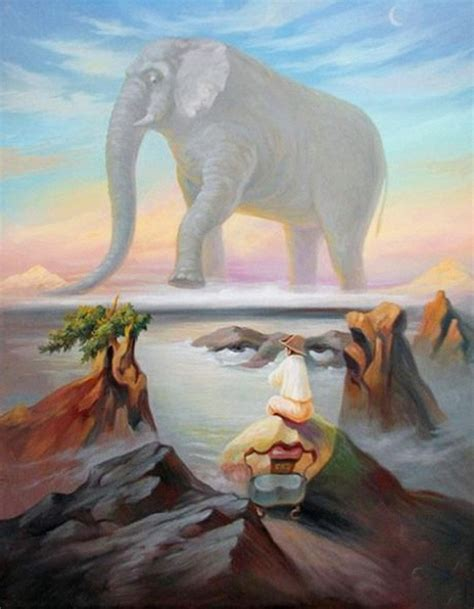 E Painting Meaning by Oleg Shuplyak 1967 Surreal Optical Illusion Painter