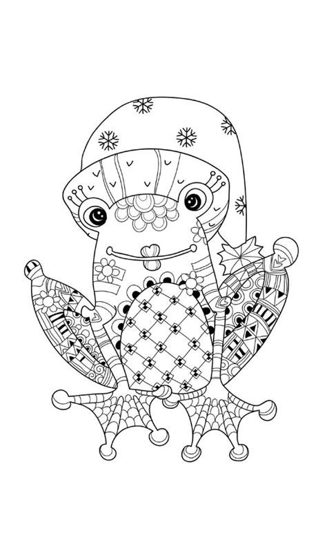 christmas frog coloring page frog christmas coloring pages festival collections