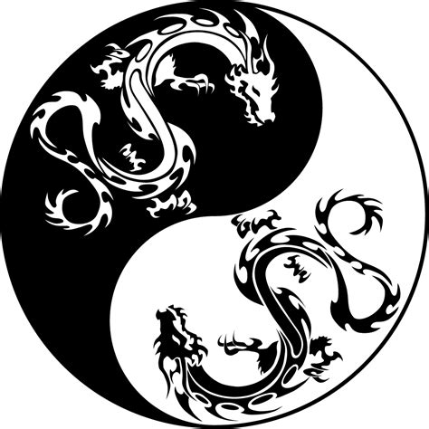 Black Flower Wall Stickers stickers ying yang dragon pas cher