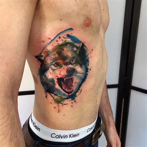 watercolor tattoo for guys 50 wolf watercolor designs for cool ink ideas