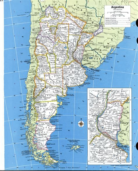 map of argentina cities argentina detailed mapfree maps of south america