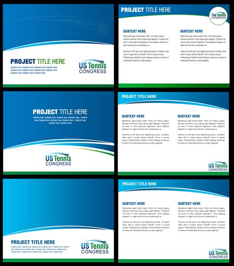 design proposal presentation serious professional powerpoint design for us tennis