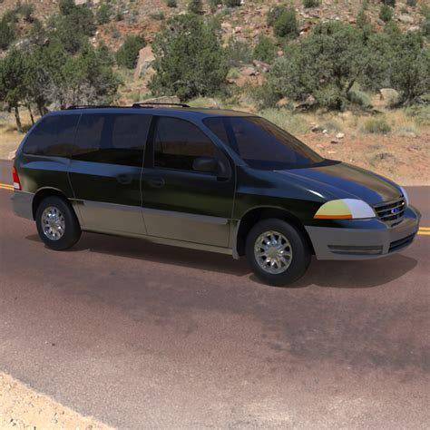 Ford Windstar 2000 by Ford Windstar 2000 3d Model Obj Cgtrader