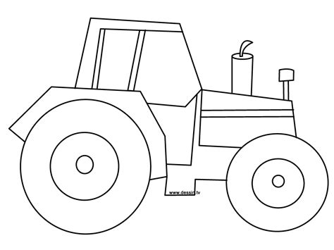 tractor template printable coloring tractor