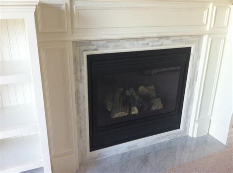 marble tile fireplace surround hearth fireplace
