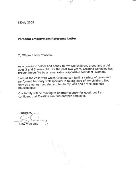 Reference Letter Au Pair best photos of letter proof of babysitting proof