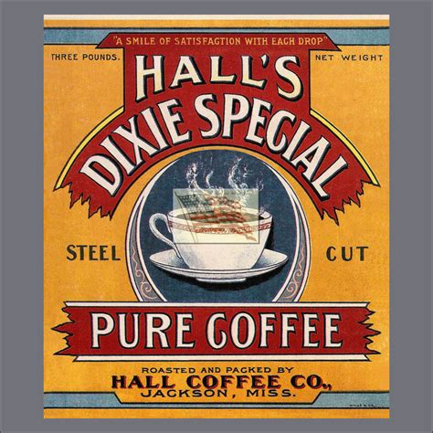 britain classic reprint books reprint picture of coffee can label s dixie