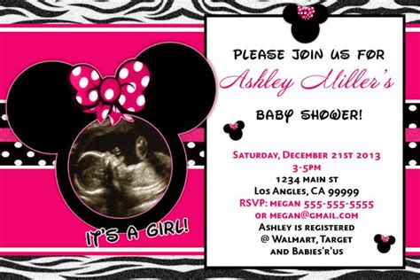minnie mouse baby shower invitations templates minnie mouse baby shower invitation its a baby