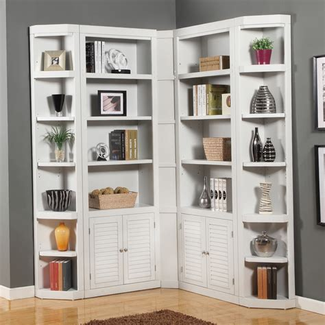 white bookcases with doors bookshelf astonishing corner bookcase with doors book